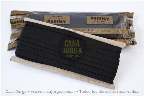 ELASTICOS BENTLEY LISO ARTICULO 18 DE 8 MM COLOR NEGRO POR 25 MTS