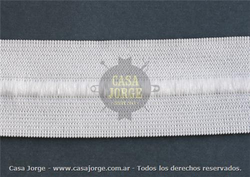 ELASTICOS CON CORDON COD 3460 DE 35 MM COLOR BLANCO POR 50 METROS