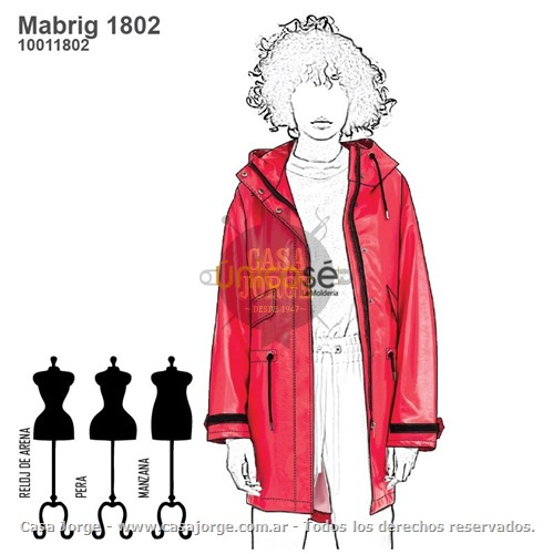CHUBASQUERO IMPERMEABLE MUJER Mabrig1802